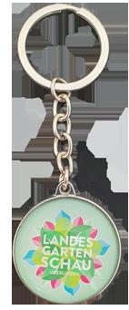 Schlüsselanhänger Glas Logo